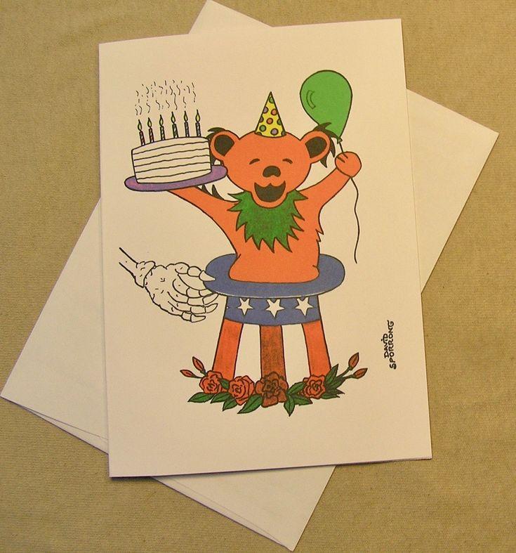 The 24 best grateful dead birthday cards images on pinterest grateful dead birthday card teddy bear magic regular size card and mini version a lunar eclipse cartoon birthday card m4hsunfo