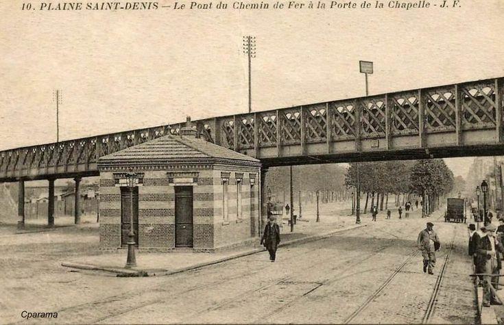 Pont de chemin de fer porte de la chapelle elevateds for Porte de la chapelle