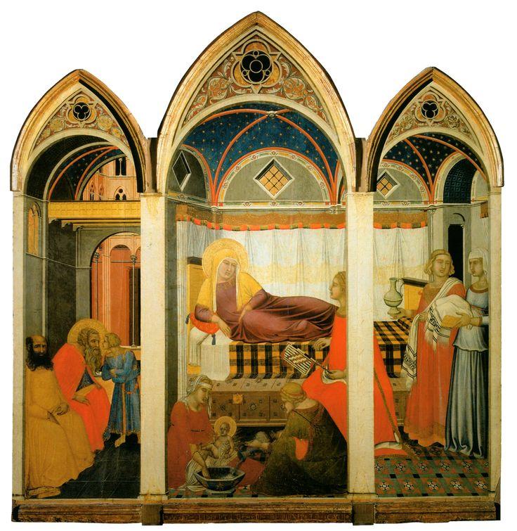 Pietro Lorenzetti: Natività della Vergine (1335-1342) - I tesori dell'arte senese - a cura del Tesoro di Siena - Vai alla pagina http://www.iltesorodisiena.net/2016/04/pietro-lorenzetti-nativita-della.html