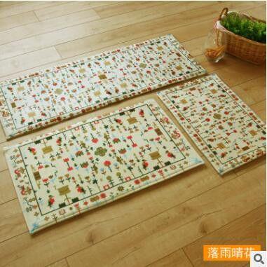 House Mat Door Doormat Hall Bathroom Kitchen Rug and Toilet Mat Strip Absorbent Anti-Slip Korean Style Carpet