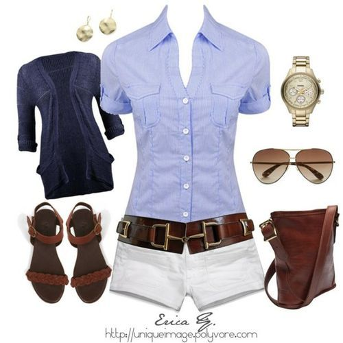 i love everything about this outfit: Shoes, White Shorts, Summer Looks, White Pants, Summer Outfits, Casual Outfits, Summer Clothing, Style Fashion, Belts