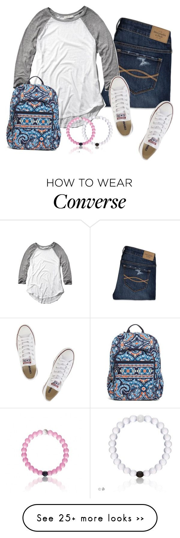 """If only I knew from the beginning it was you"" by keileeen on Polyvore featuring Abercrombie & Fitch, Converse and Vera Bradley"