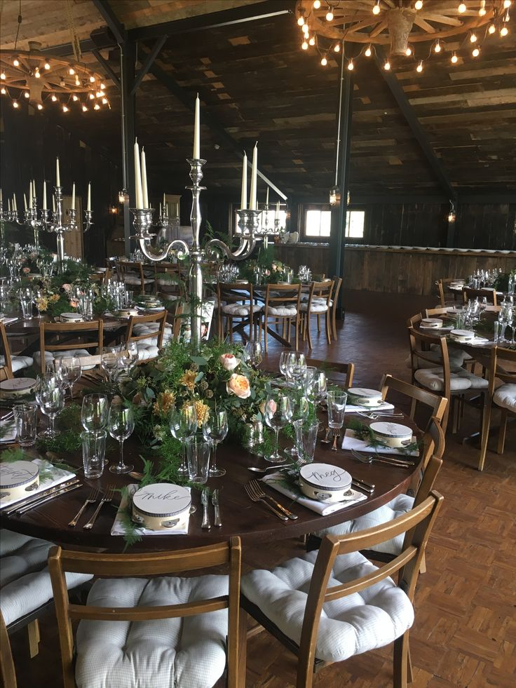 The Haybarn set up for a wedding reception, a fantastic setting!