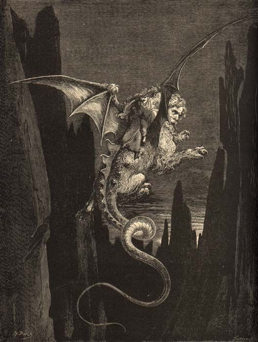 an analysis of the monsters in dantes inferno Descriptions of each level of dante's inferno, as well as purgatory each was inspired by dante's own descriptions of the nine levels of the inferno.