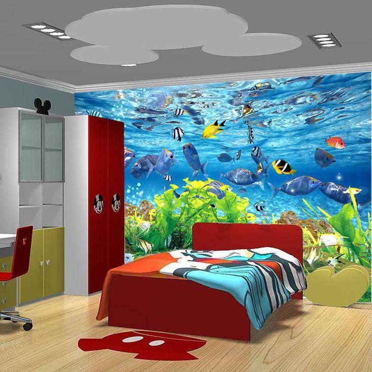 Подводный Мир звезда Коралловый декоративные росписи искусства обои/обои фон индивидуальные детская спальня