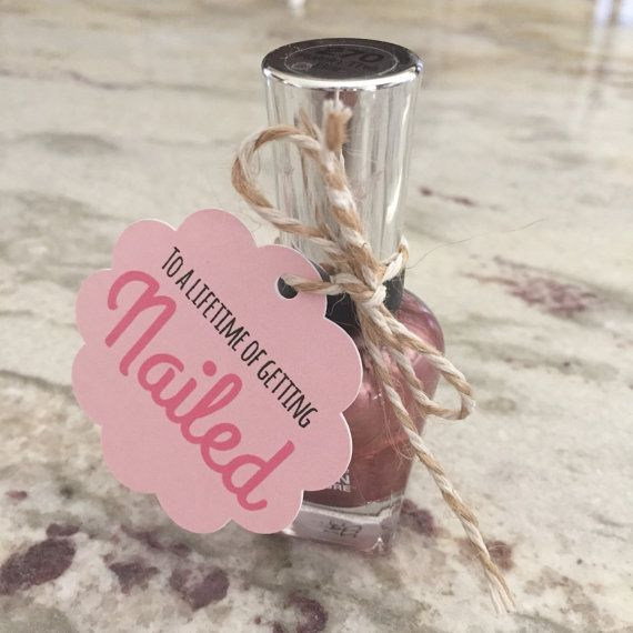 Bachelorette Party Favors//Nail Polish by MelissaLynneDesign