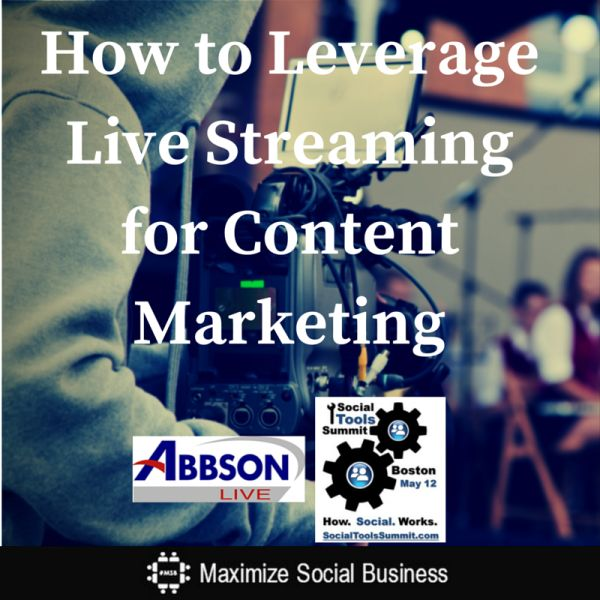 Live streaming is huge. Almost 1/3 of business video in 2013 was viewed via the live streaming pioneer Ustream. Learn how to leverage live streaming as part of your content marketing efforts.