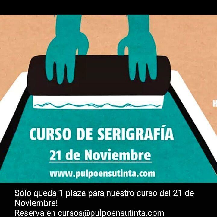Queda 1 plaza para nuestro curso de serigrafía del próximo 21 de Noviembre! #barcelona #serigrafia #screenprinting