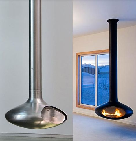 Ceiling Mounted Fireplaces - 9 coolest ceiling fireplace designs | Captivatist