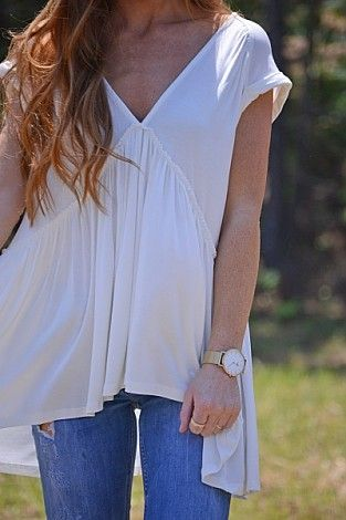 Sweetheart Top, Ivory :: NEW ARRIVALS :: The Blue Door Boutique