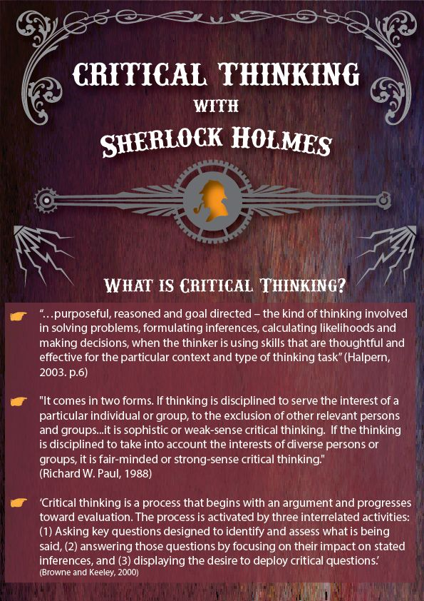 Infographic for creative and critical thinking