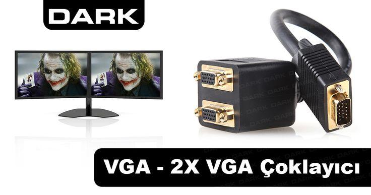 Dark VGA - 2xVGA Görüntü Çoklayıcı (VGA Erkek - 2xVGA Dişi) :: DEVesnaf