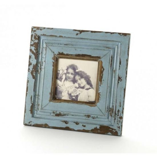 Distressed Wooden Frame - Blue Add a bit of country chic to your home with this blue distressed wooden picture frame.  Size - 28cm x 28cm