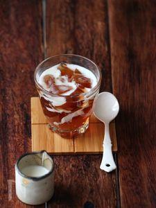 ほうじ茶ゼリーミルクソース