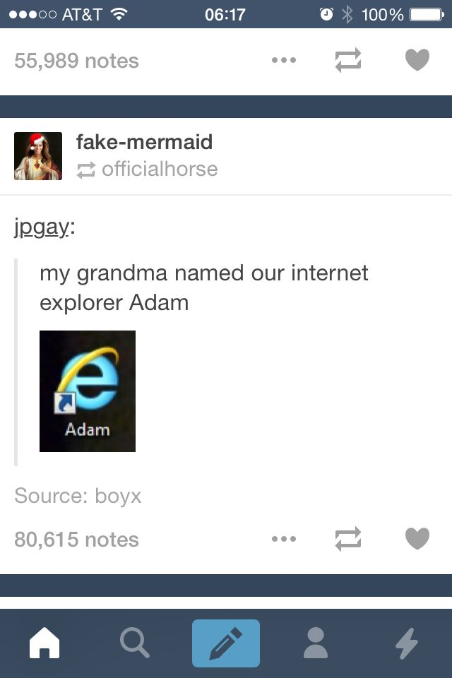 Is it because, like Adam, we've all forgotten about Internet Explorer, too?