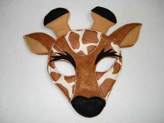 Children's GIRAFFE Felt Animal Mask by magicalattic on Etsy, $12.50