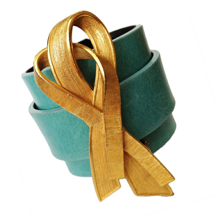 Modernist Escada Ribbon Pin on Leather Cuff Bracelet | From a unique collection of vintage cuff bracelets at http://www.1stdibs.com/jewelry/bracelets/cuff-bracelets/