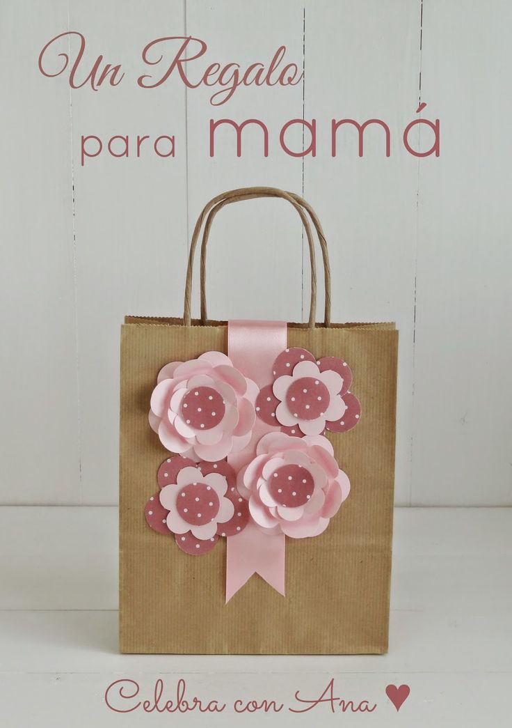 Celebra con Ana | Compartiendo experiencias creativas: Un regalo para mamá (y flores de cartulina)