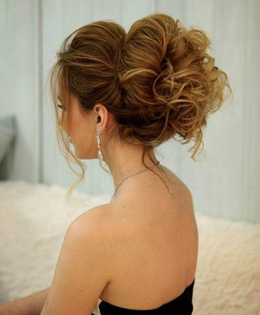 Big, Curly Twisted Updo