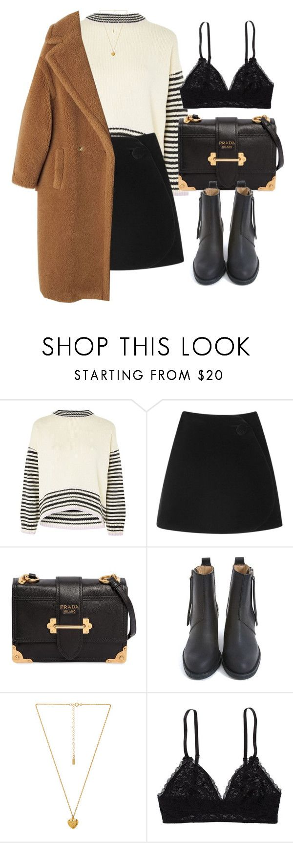 """Untitled #7135"" by laurenmboot ❤ liked on Polyvore featuring Topshop, Simone Rocha, Prada, Acne Studios, Natalie B and Aerie"