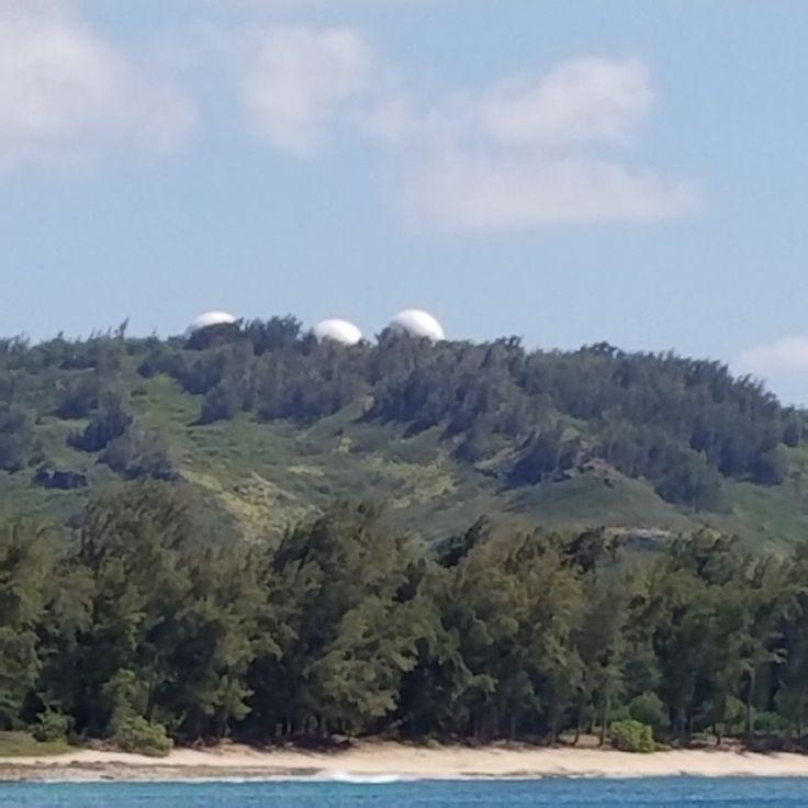 Giant golf balls of Oahu #ka'enapoint  #ww2
