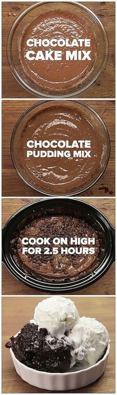 Slow-Cooker Chocolate Lava Cake