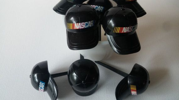 24 NASCAR hat picks cake toppers rings by AisforApronStrings