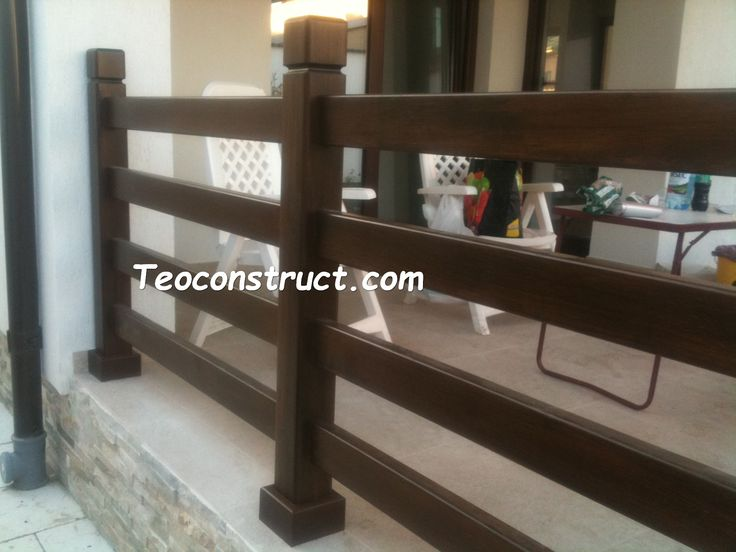 Balustrade din lemn pentru exterior  08