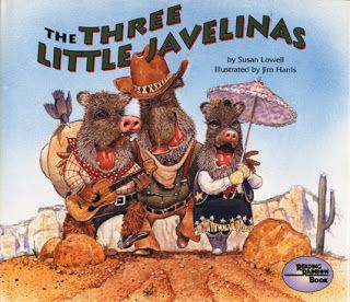 Kindergarten Library Lessons: Javelinas, Pigs and the Number 3