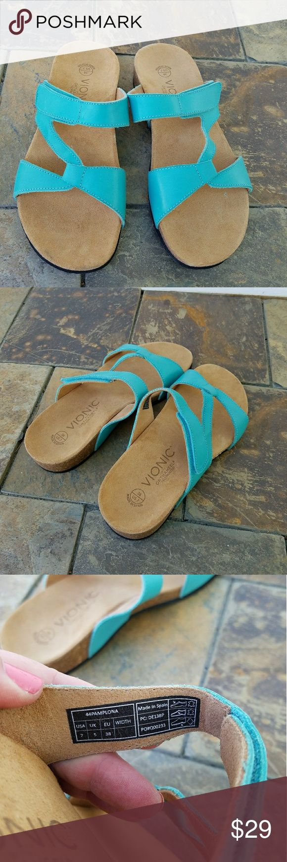 New Vionic Orthopedic Pamplona Sandals Size 7. Brand new without box.  Has orthoheel technology. Vionic Shoes Sandals