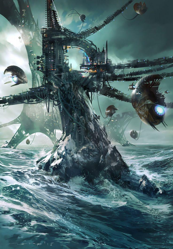 Sci-Fi Art: Alien Cities by J. Otto Szatmari - Coolvibe – Digital Art