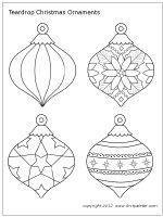 Printable Christmas Ornament Templates | Christmas Tree Ornaments | Printable Templates & Coloring Pages ...