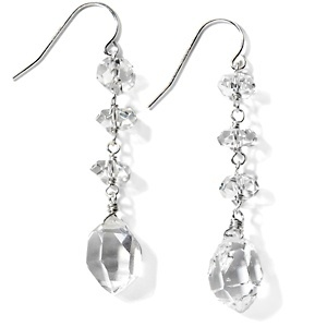 Deb Guyot Designs Herkimer Quartz Drop Sterling Silver Earrings at HSN.com.