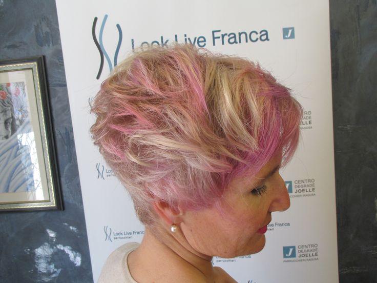 fashion degradè pink violet blonde