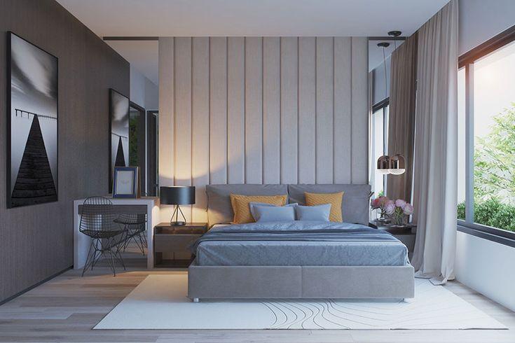 Camera da letto grigia 11