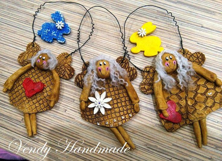 Clay angel by Vendy Handmade https://www.facebook.com/Vendy-Handmade-587894044620196/