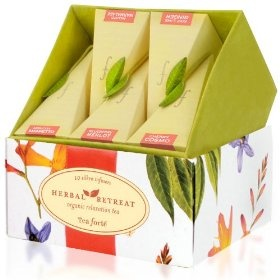 Tea Forte Petite Herbal Retreat Ribbon Box Ten Silken Pyramid Infusers $15.00