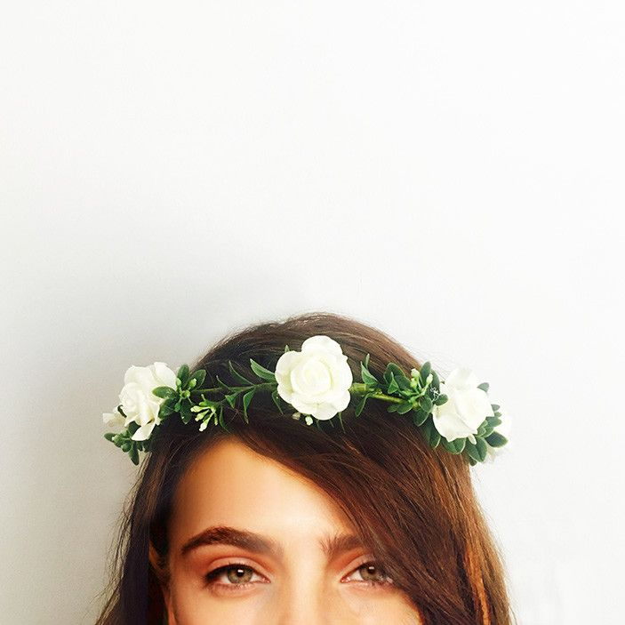 This crown is handcrafted with tea roses and greenery.   Perfect for your engagement, bridal shower or hen's night; you can wear it confidently knowing it won't wilt or fall apart throughout the day. We love that you can wear it again after your special event or keep it as a treasured memento