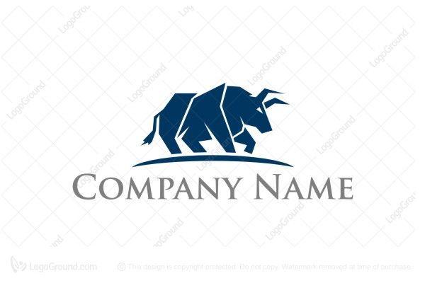 Logo for sale: bull Strong Capital Logo