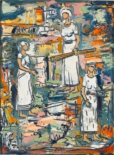 Walter Battiss (1906 - 1982)   Expressionism   African women
