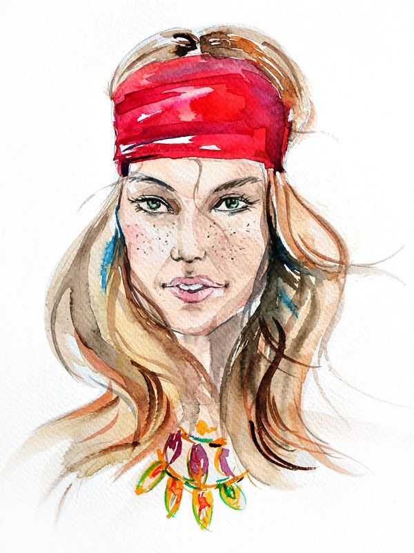 Fashion/ Watercolor by Elena Kartashova
