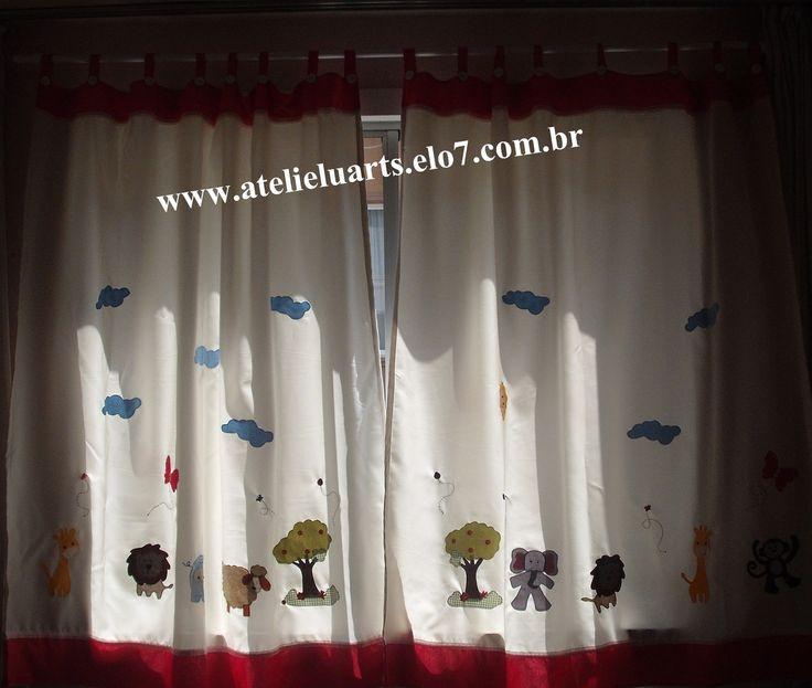 20 melhores imagens de cortinas cozinha quarto - Apliques para cortinas ...