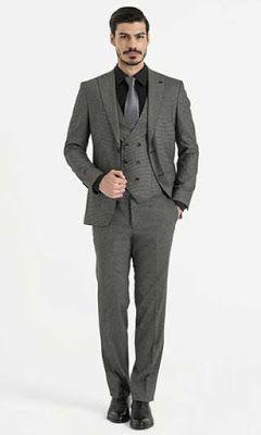 d4d0bc234b2c8 Pantolon Ceket Kombinleri: Yelekli Koyu Gri Takım Elbise - Beyaz Gömlek -  Bordo Kravat | Men's Clothing & Fashion | Giyim, Elbise modelleri, Erkek  giyim