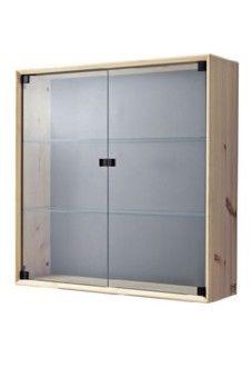 נורנס ארון עליון עם דלת זכוכית 70*70 אורן