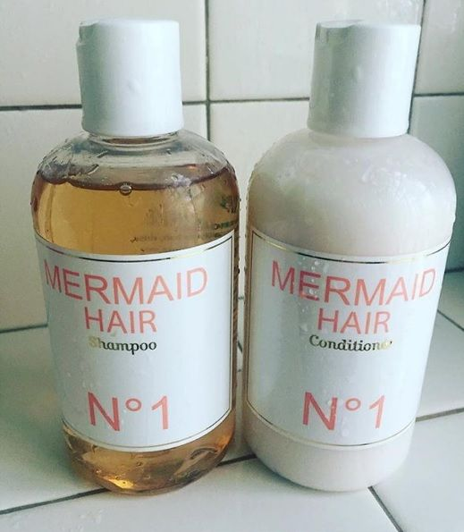 mermaid hair. i love this shampoo & conditioner. the scent is so yummy. tanning oil, coconuts & the beach. makes my hair so soft & pretty.