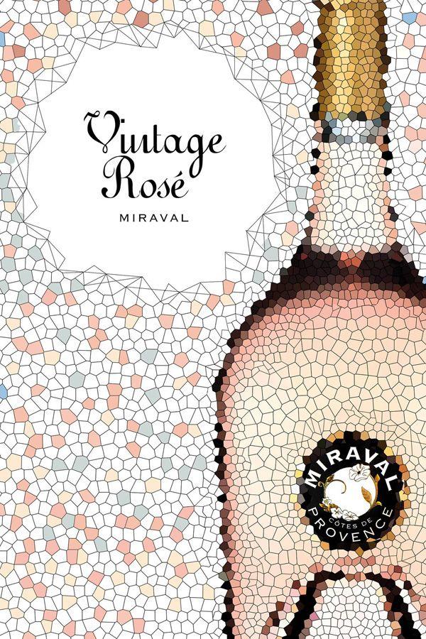 Visuel pour lancement Miraval rosé 2013 - BLOG NOIR DE VIGNE AGENCE DE COMMUNICATION