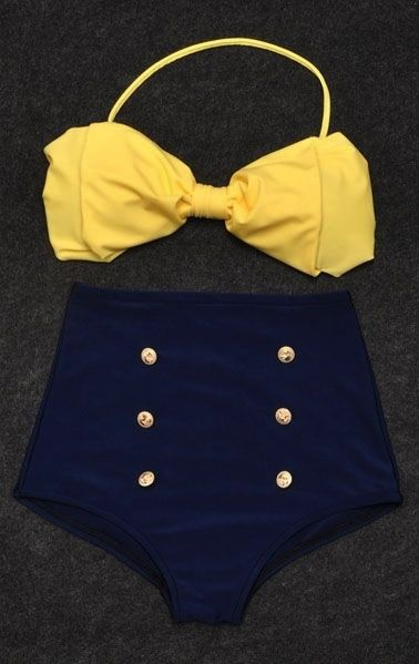 Vintage Retro Pin Up High Waisted B
