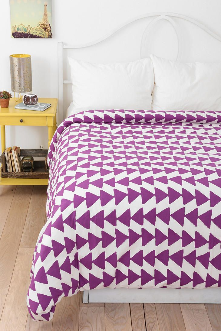 Magical Thinking Triangle Chain Duvet Cover Available in Twin XL    I love the triangles and the color