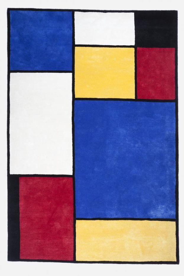 Mondrian rug, Samuele Mazza for Nodus