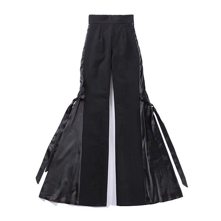 Le Palais Vintage - Fan Fare Flare Black Pants - Dramatica! ONLY 5 LEFT In EA Size!